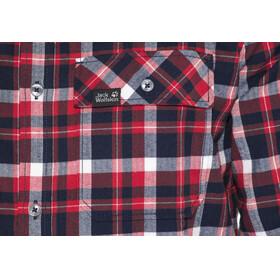 Jack Wolfskin Bow Valley Shirt Men red blue checks